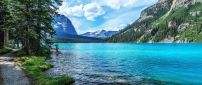 Wonderful blue clear mountain water-Fresh air beautiful view