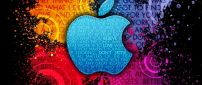 Apple logo - Color background and life messages