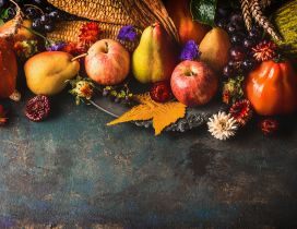 Wonderful Autumn wallpaper with delicious fruits