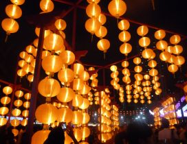 China town - Wall of lights magic moments