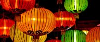 Big colorful lights from China in the sky - HD wallpaper