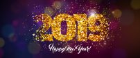 Golden 2019 - Happy New Year be happy all the time