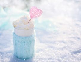 Sweet moments on a cold winter day- Hot chocolate with candy