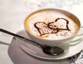 Good morning my love with a delicious coffee from my heart