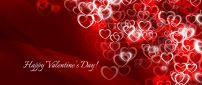 Digital art love wallpaper - Hearts from Valentines Day