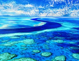 Blue water and sky - Wonderful colors of our earth