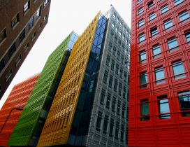 Whole business buildings are colourful - Friendly town