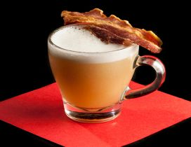 Interesting drink - Coffee with bacon special Autumn serve