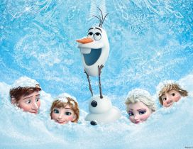 Anna and friends in the snow - Frozen movie 2