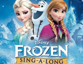 Poster from Frozen 2 - Queen Anna Elsa and Olaf