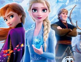 Discovering magic power for Anna - Frozen 2 kids movie