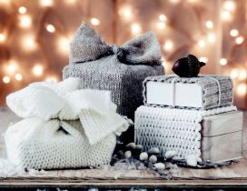 Silver gifts for Christmas night - Santa Claus is coming