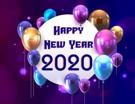 Balloons for a new decade - Happy New Year 2020