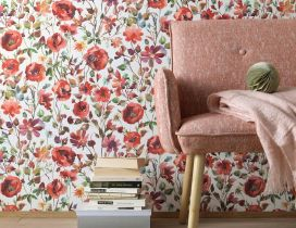 Flower design on the wall - Books for study