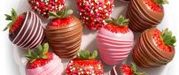 Delicious strawberry cover with chocolate - Love time