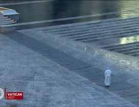 Pope Francis Alone in Vatican Italy pray for world