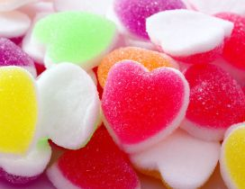 Delicious jelly shape of hearts - Colored jelly candy