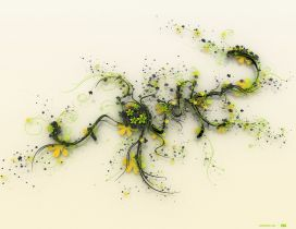 Abstract June month made from flowers - HD wallpaper
