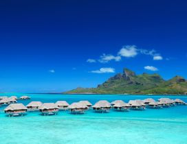 Traditional houses from Tahiti Bora Bora Island - Summer